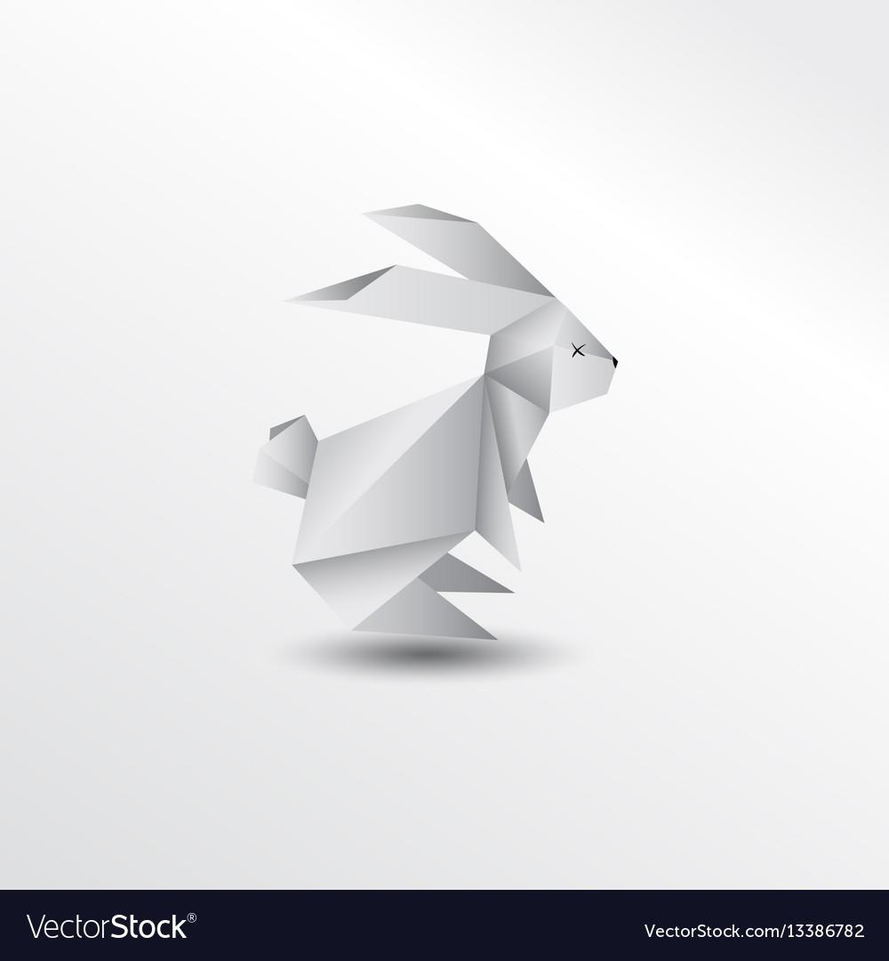 Origami Rabbit Royalty Free Vector Image