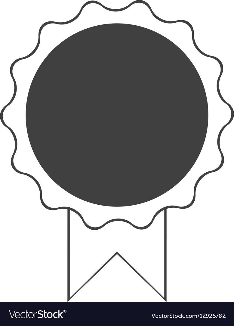 Premium quality badge ribbon dark bakground