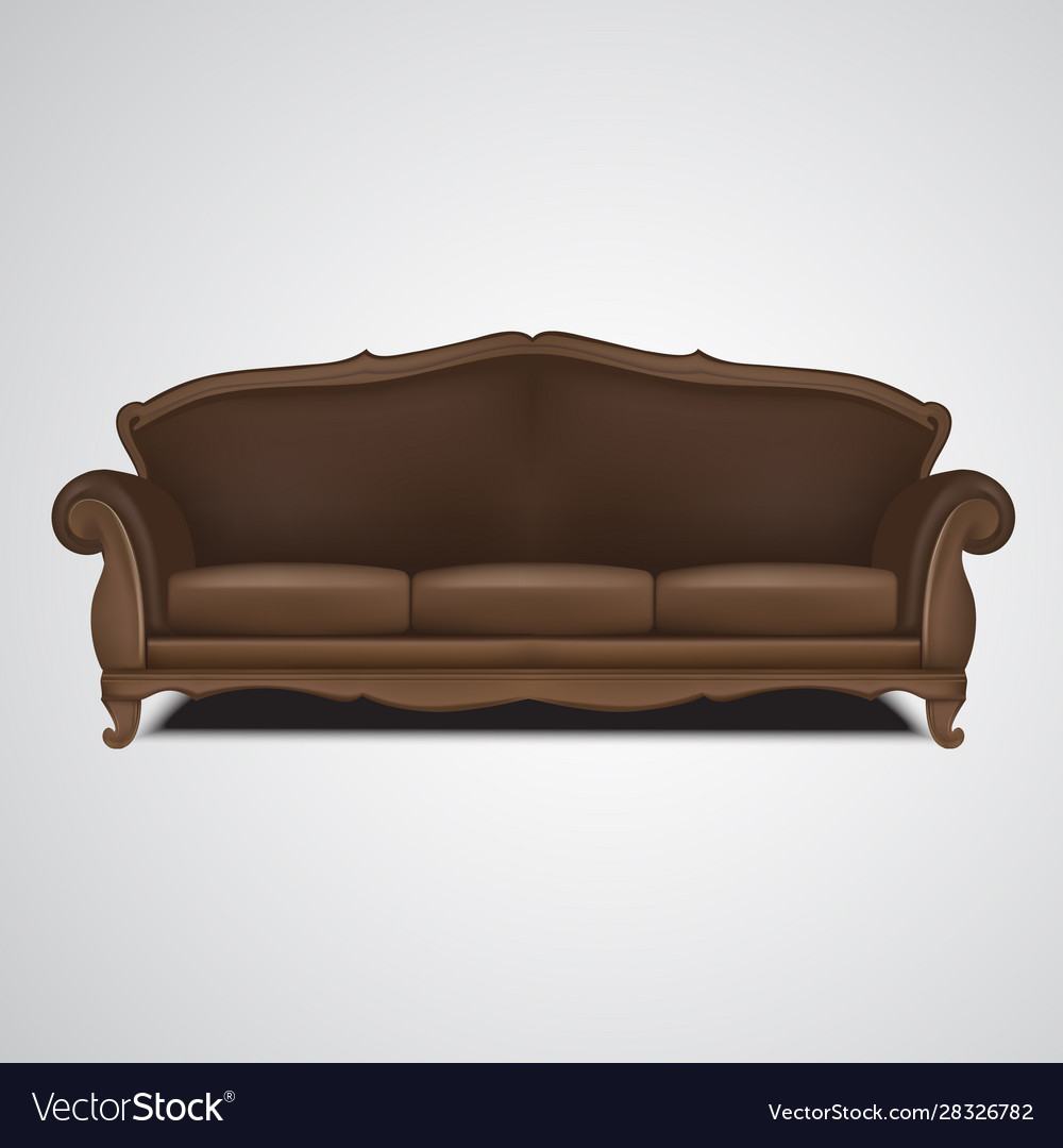 Sofa antique furniture isolated