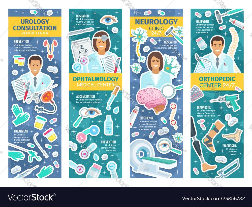 Urology ophthalmology orthopaedy and neurology