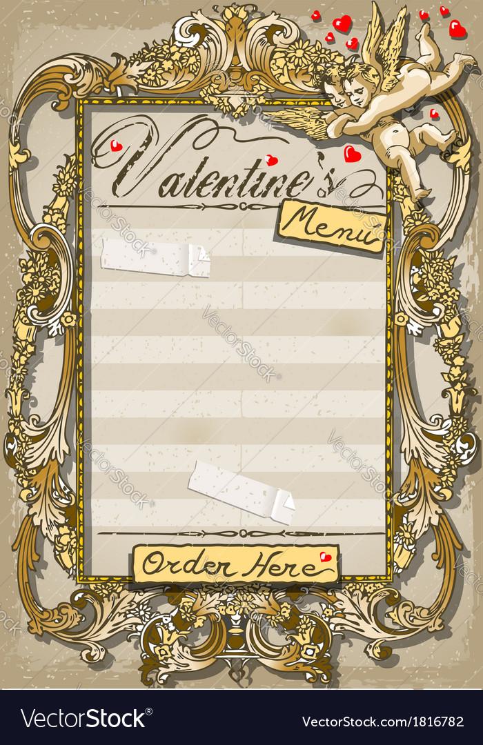 Vintage Graphic Page for Valentine s Menu