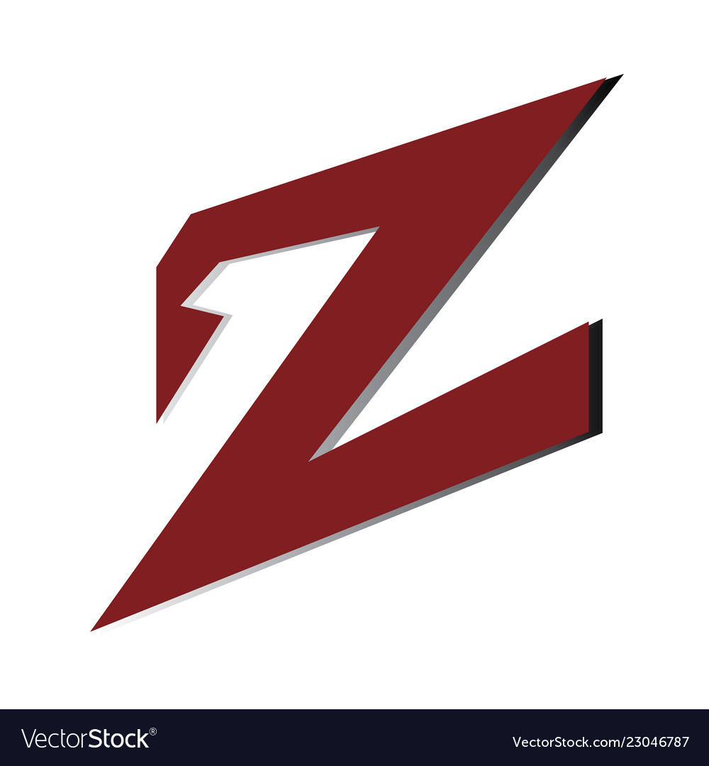 Colorful letter z logo sign symbol icon
