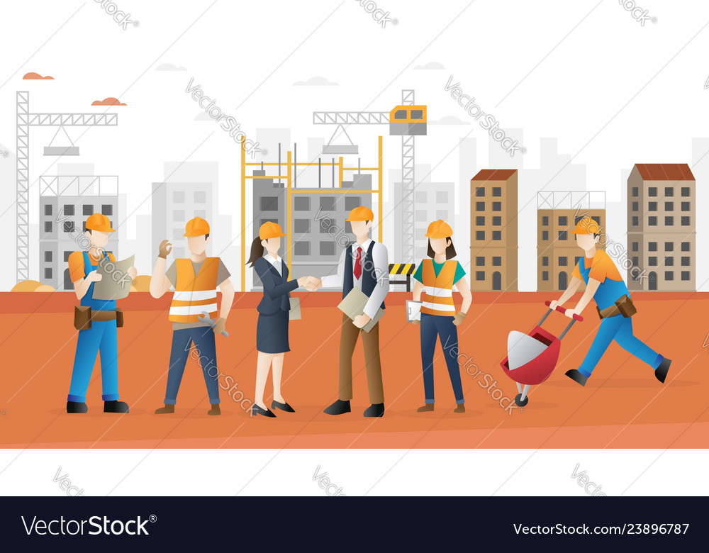 Construction worker team