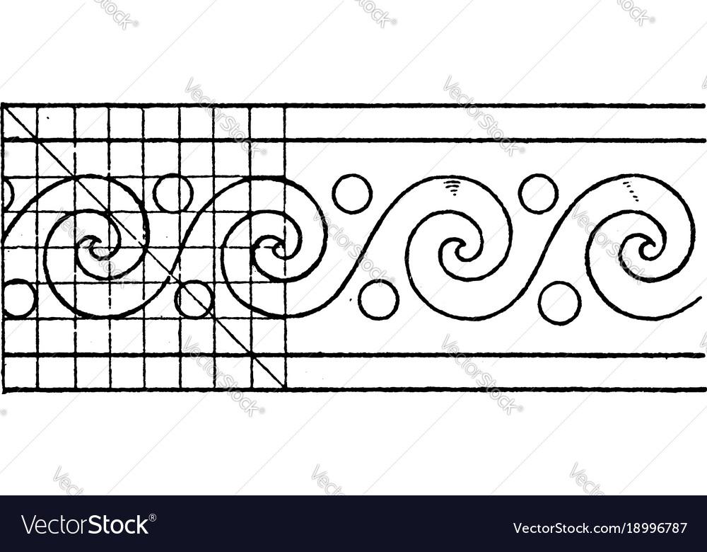 Evolute spiral paintings a rectangular pattern
