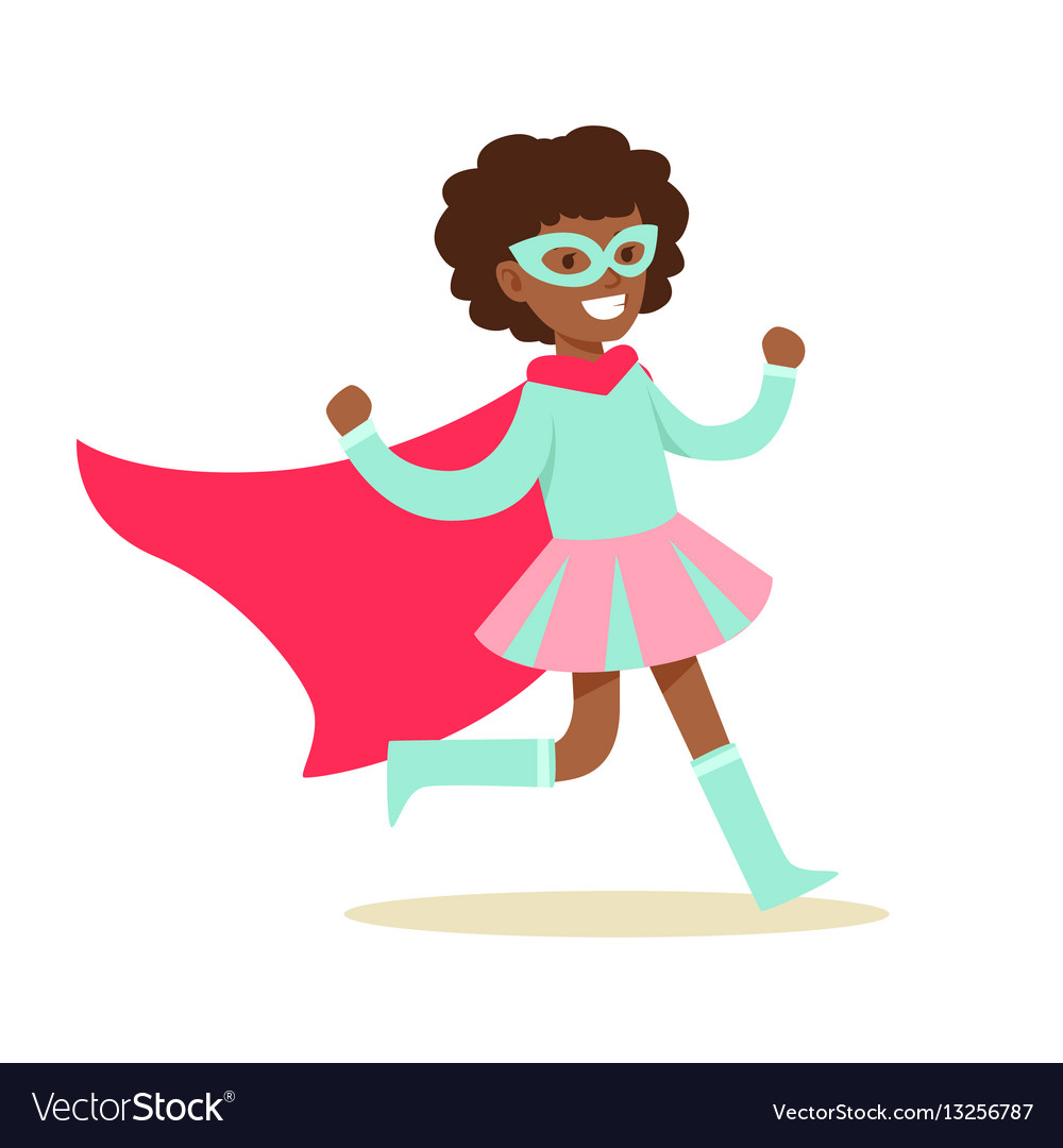 Girl pretending to have super powers dressed in