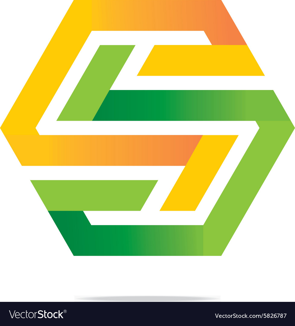 Letter s icon logo symbol hexa