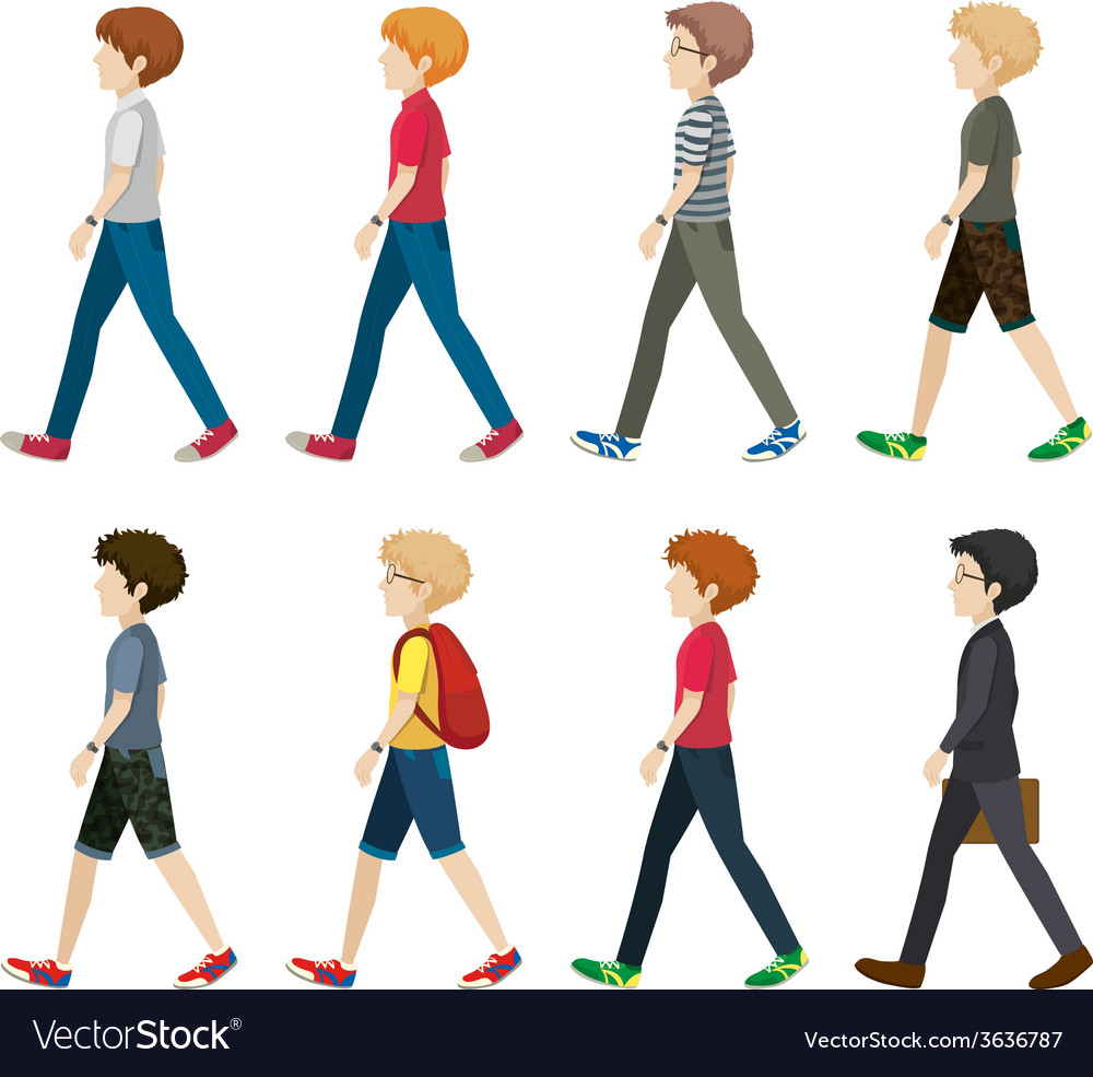Download Walk Vector Image