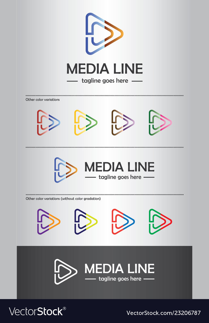 Media line logo template best for branding