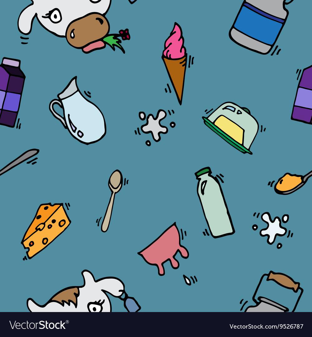 Milk icons pattern
