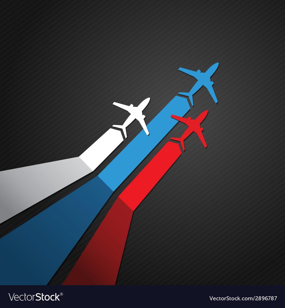 Russian plane vector image
