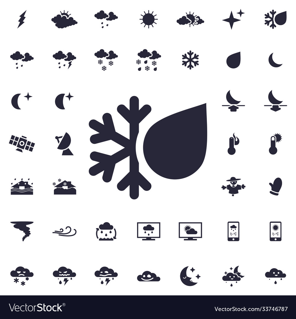 Snowy weather icon