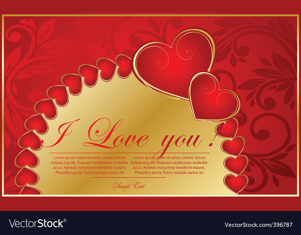 Vector valentine background with heart vector image