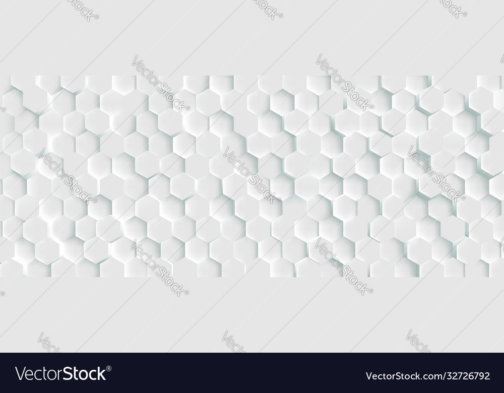 3d futuristic honeycomb mosaic white background