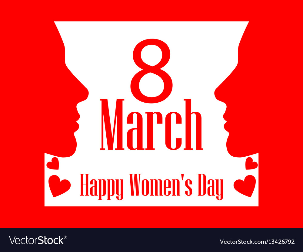 8 march day international womens day banner