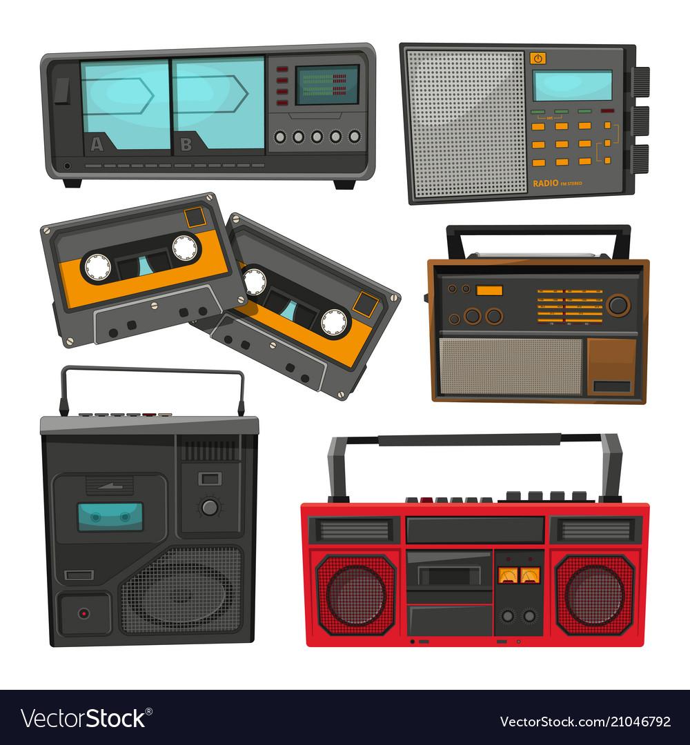 Cartoon old music cassette