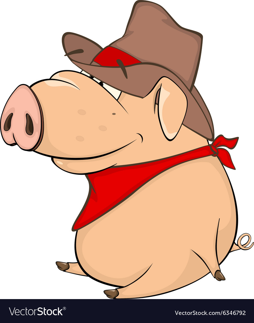 Cute pig farm animal cartoon