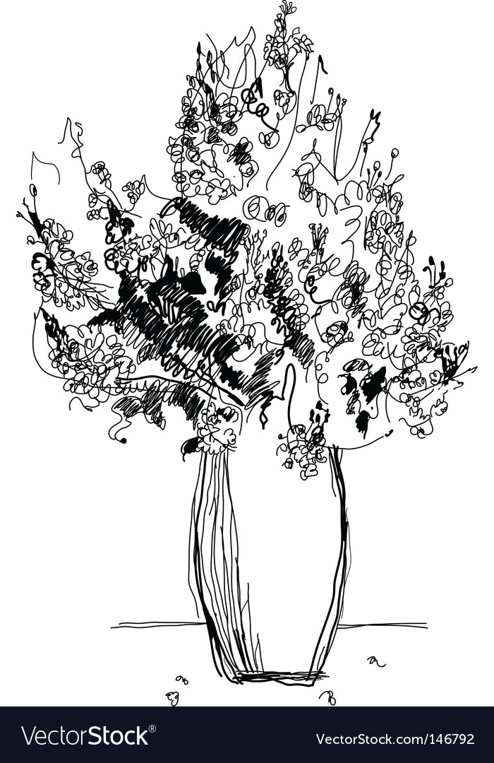 Drawing bouquet vector image