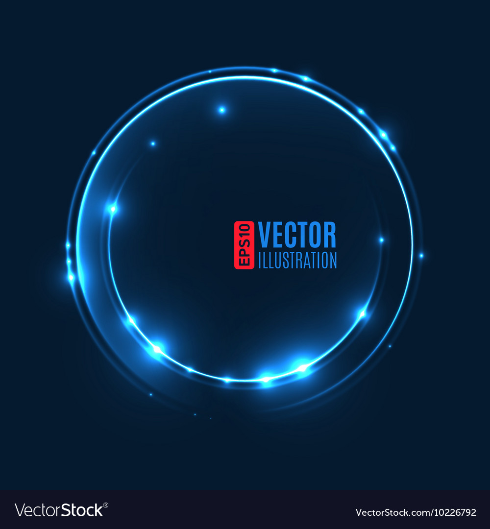 Energy abstract background with luminous swirling vector image