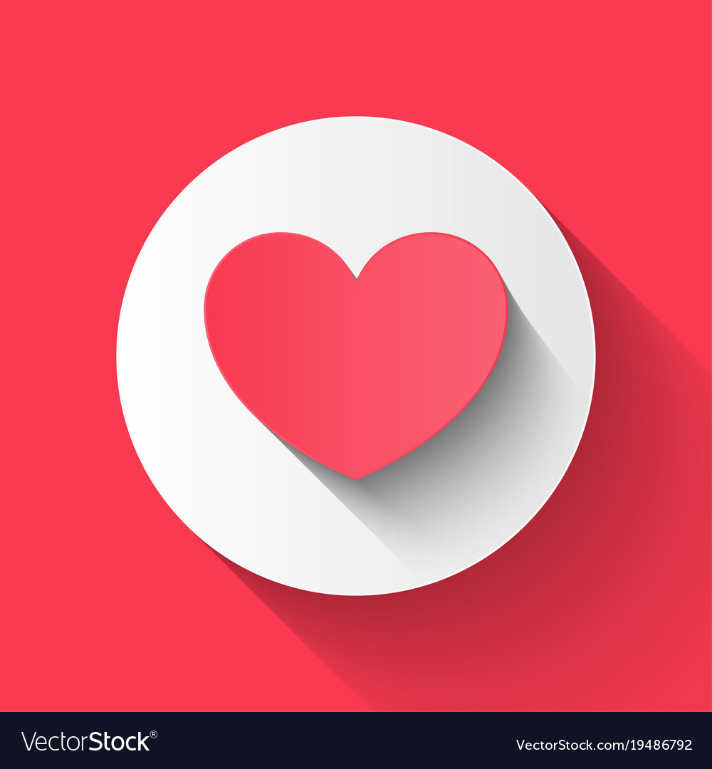Flat heart paper style love valentine day couple vector image