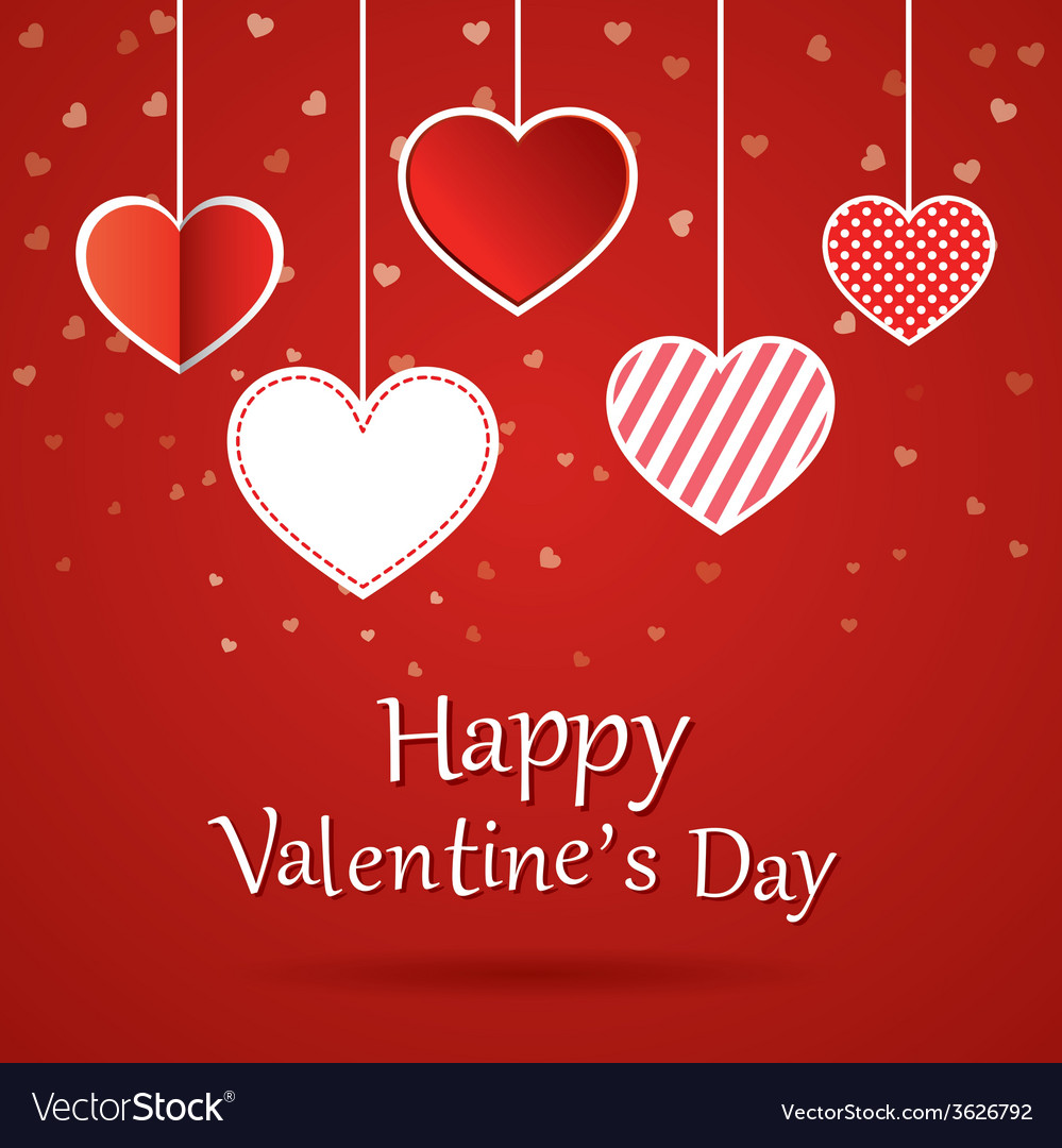 Happy Valentines Day Cards Royalty Free Vector Image