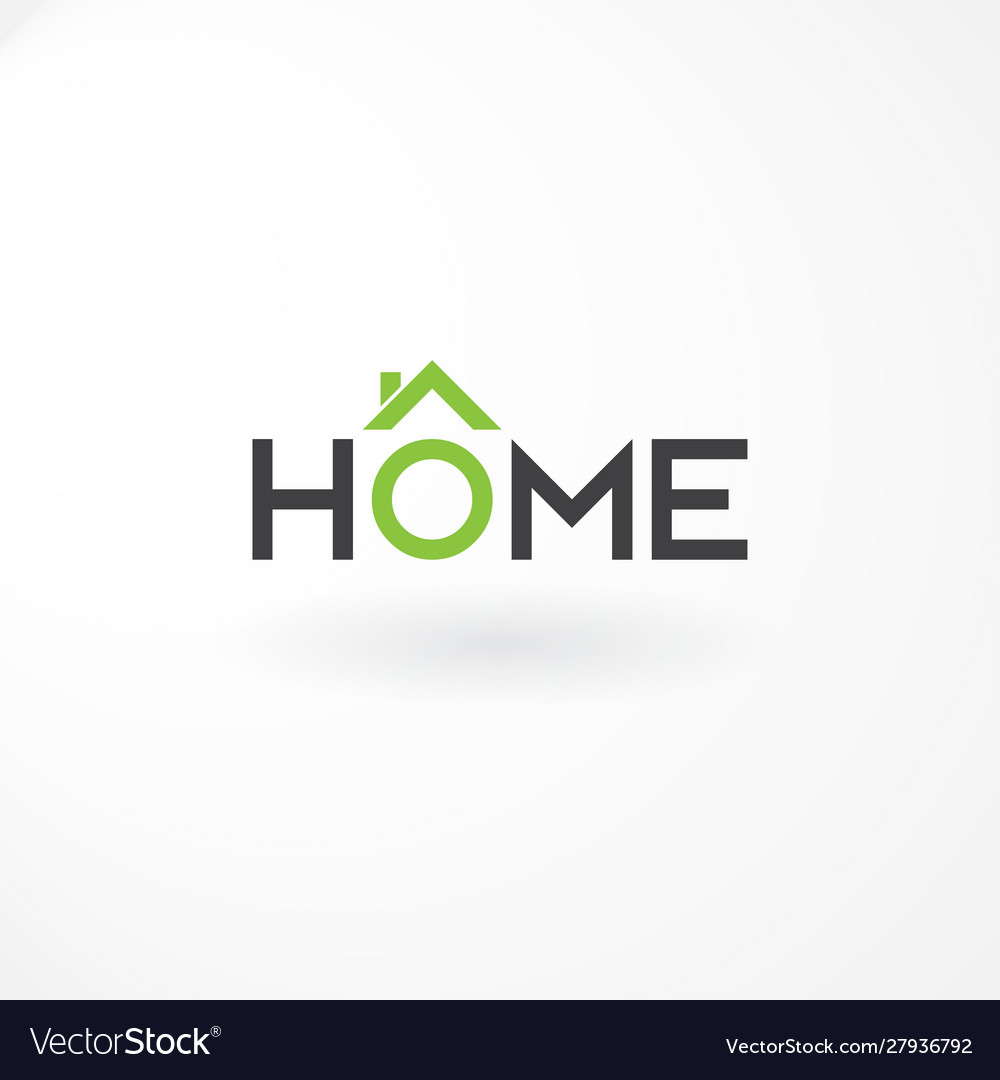 Logo wordmark with combination letter home and