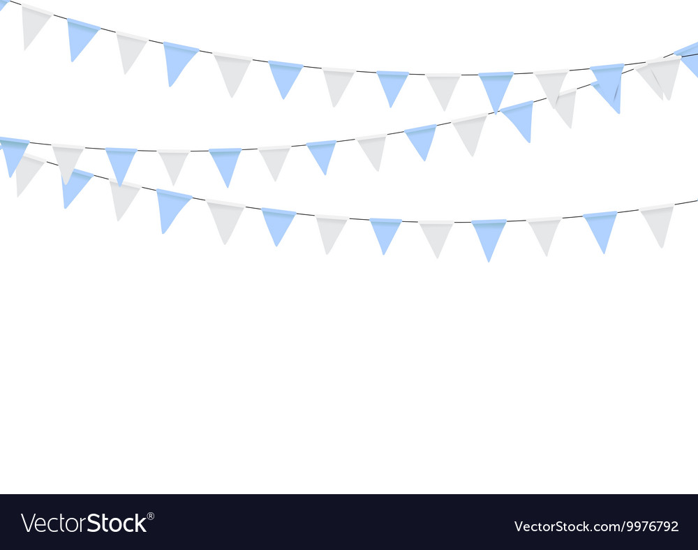 Oktoberfest decoration in traditional colors of vector image