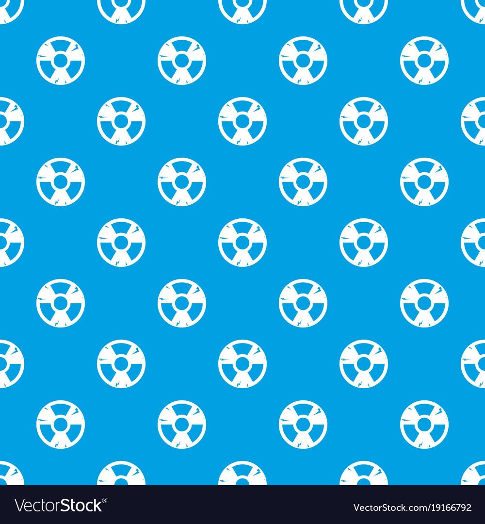 Radiation sign pattern seamless blue