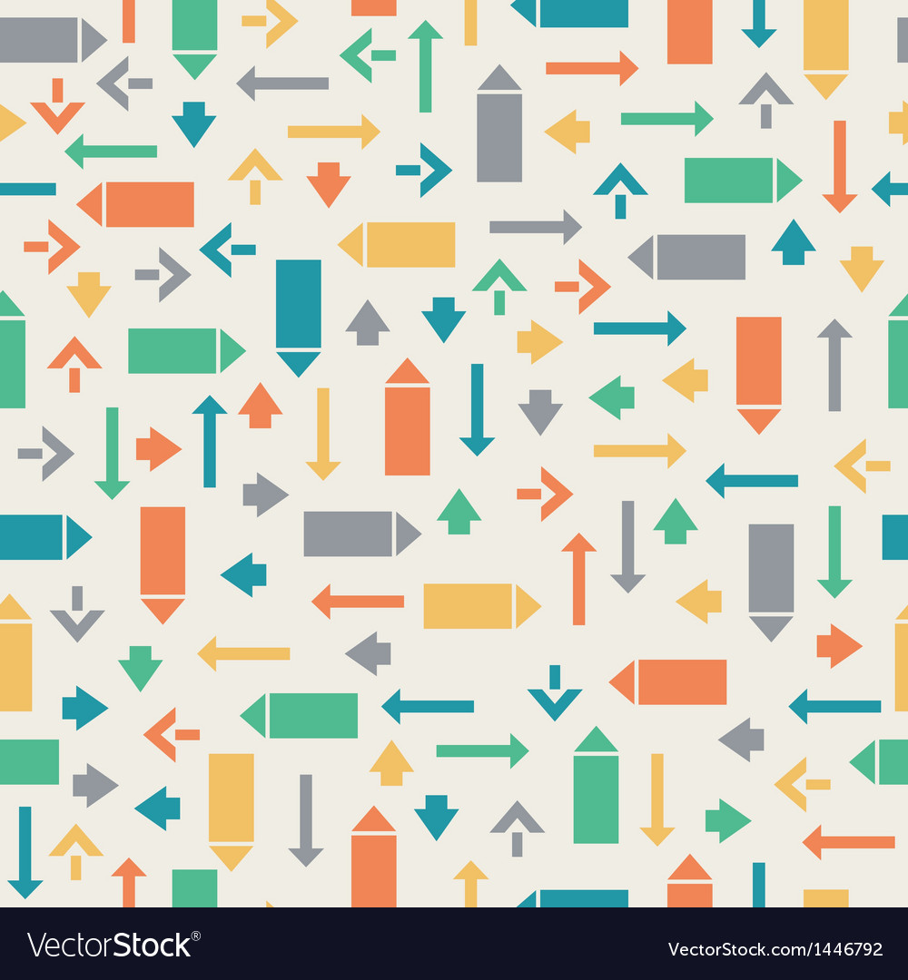 Seamless geometric pattern with pointers arrows