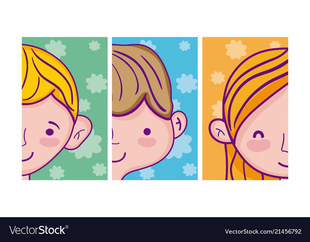 Set of kids cartoons