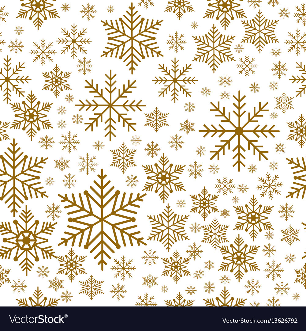 Snowflakes seamless background pattern