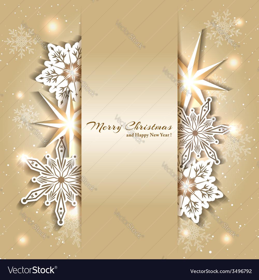 Sparkling Golden Christmas Background