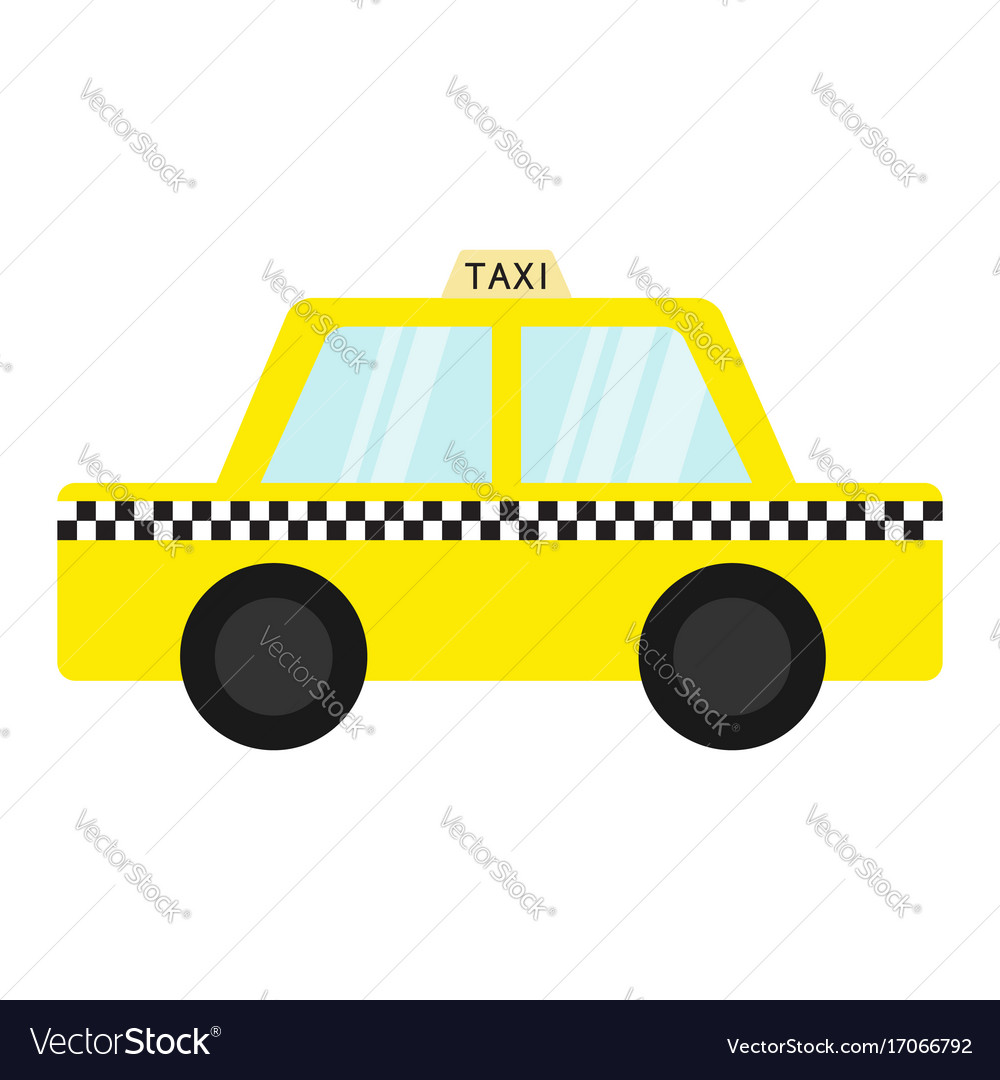 Taxi car cab icon cartoon transportation vector image