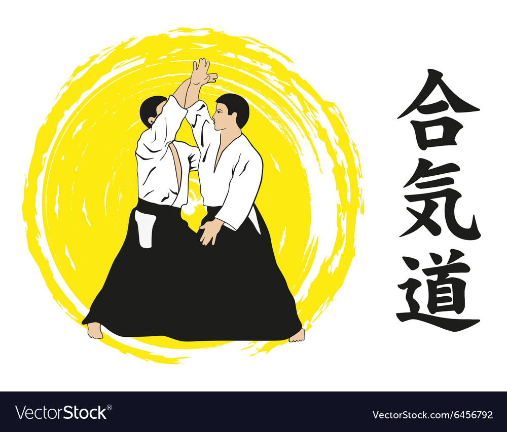 Two men show Aikido
