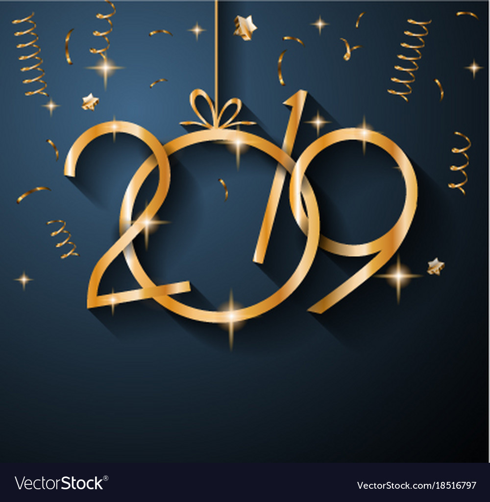 happy new year 2019 wallpaper image 2019 happy new year background for your seasonal vector image