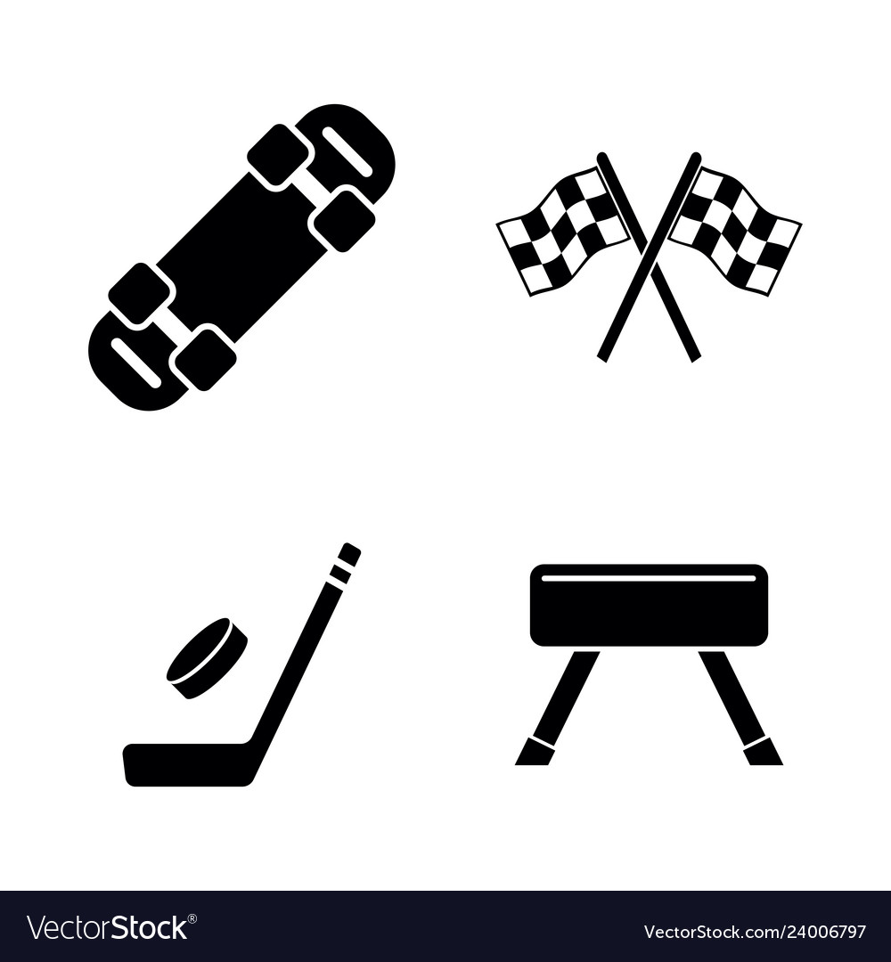 Activity sport games simple related icons