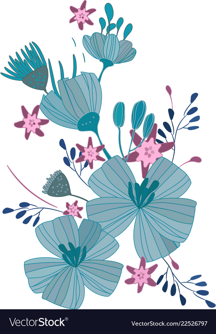 Blue flowers a bouquet daisies