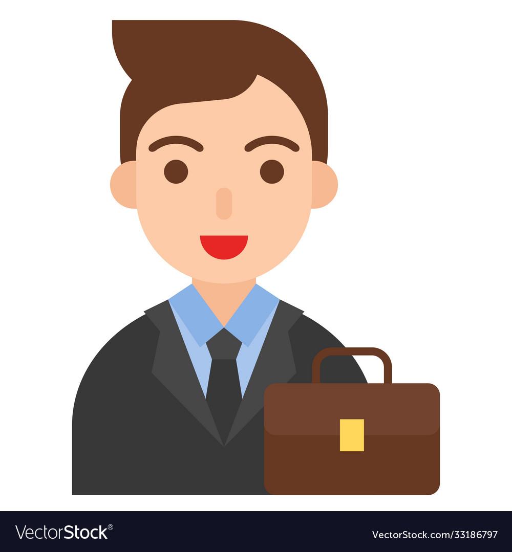 Businessman icon profession and job