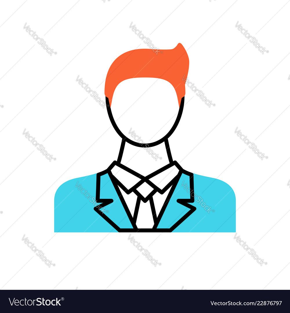 Businessman thin line icon