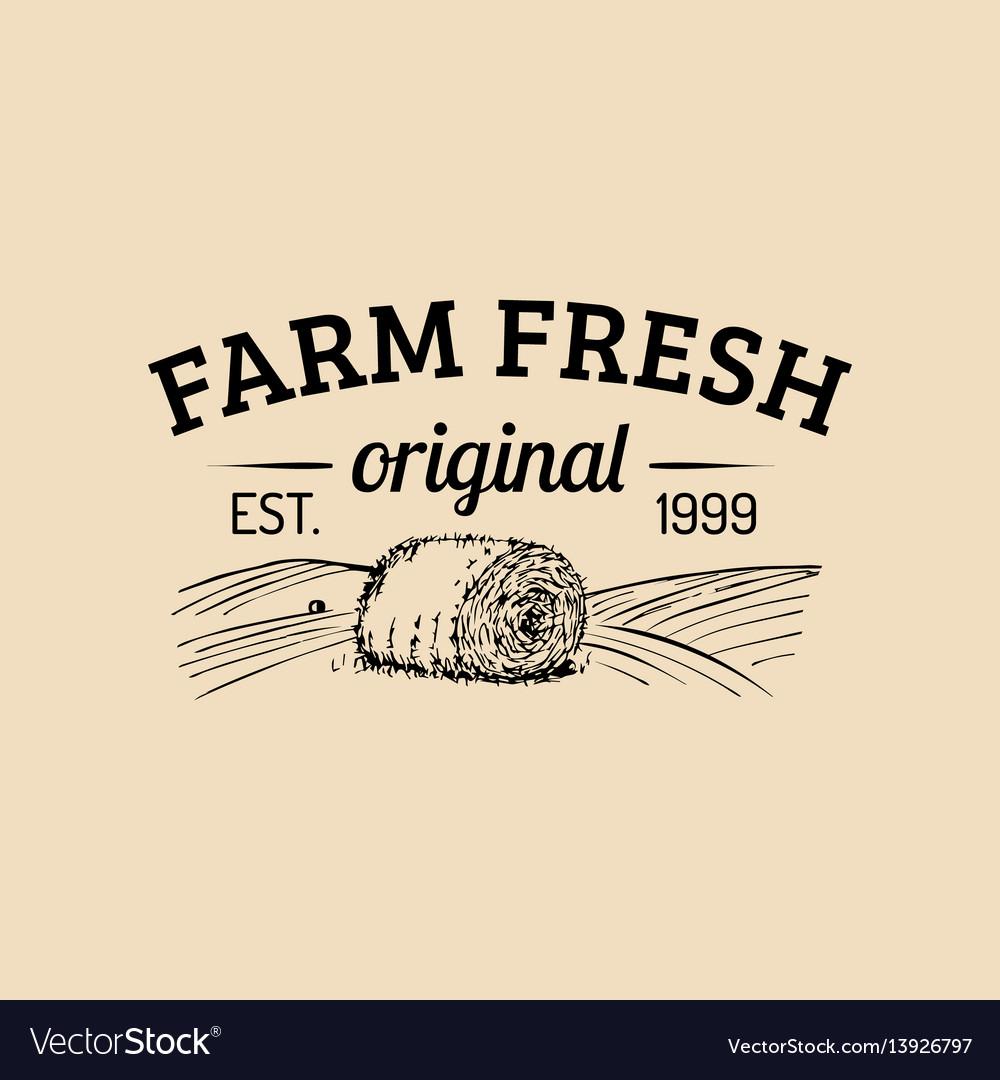 Farm fresh logotype organic premium vector image