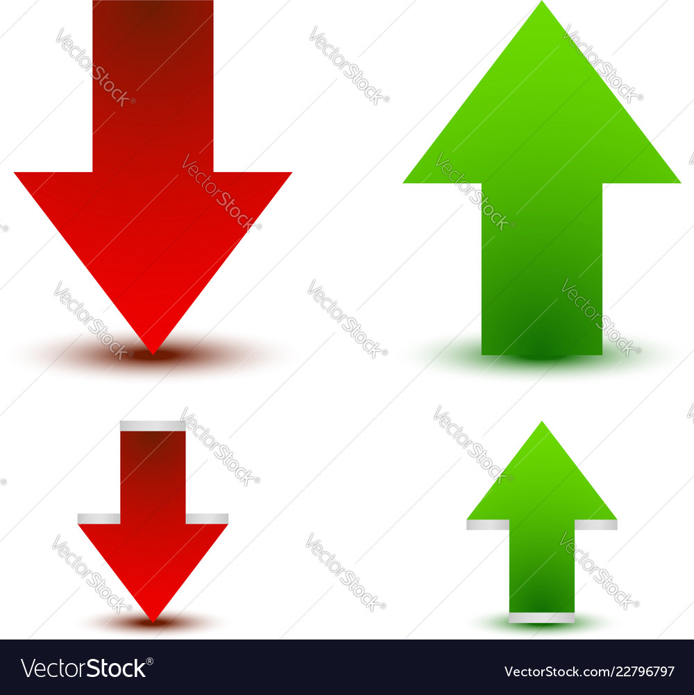 Green red arrow up down