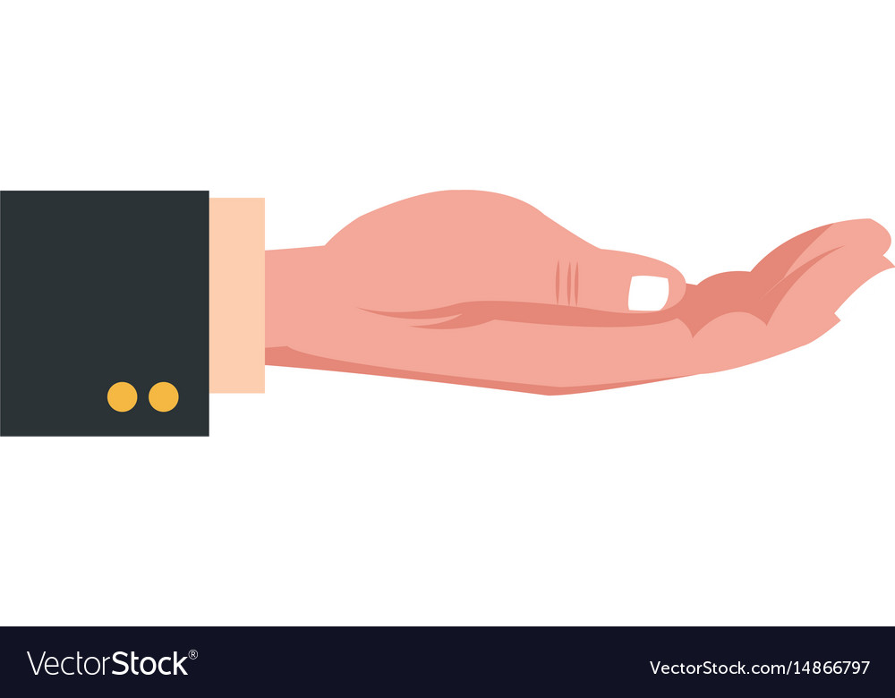 Hand business man hold concept image