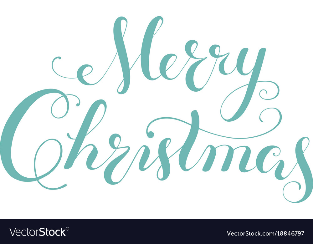 Merry christmas calligraphy lettering template