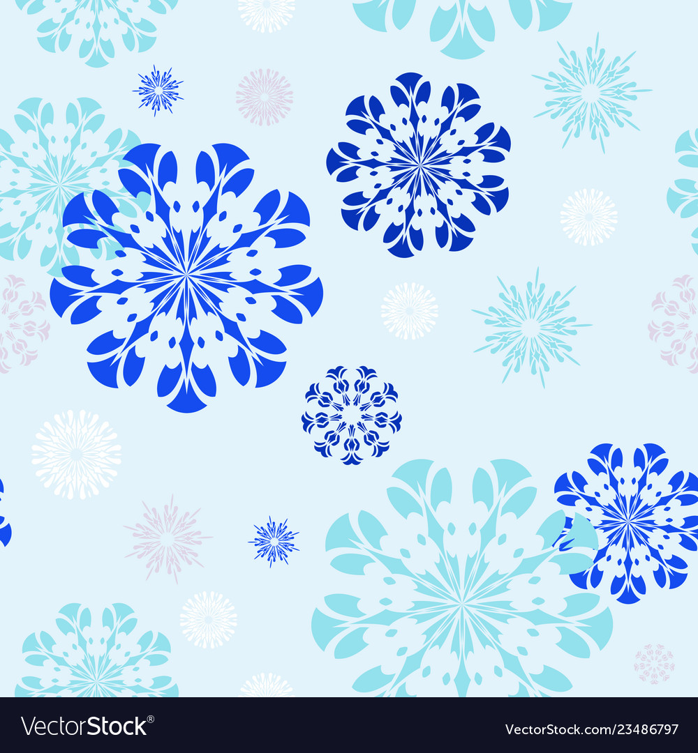 Pattern 0142 graceful snowflakes