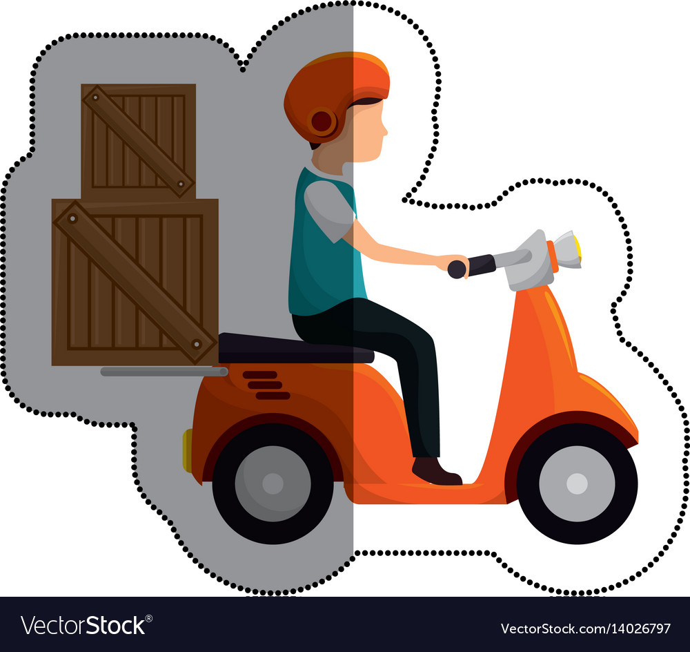 Scooter vehicle isolated icon