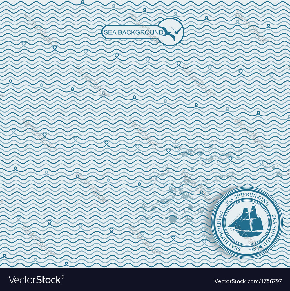 Sea wave hand-drawn pattern