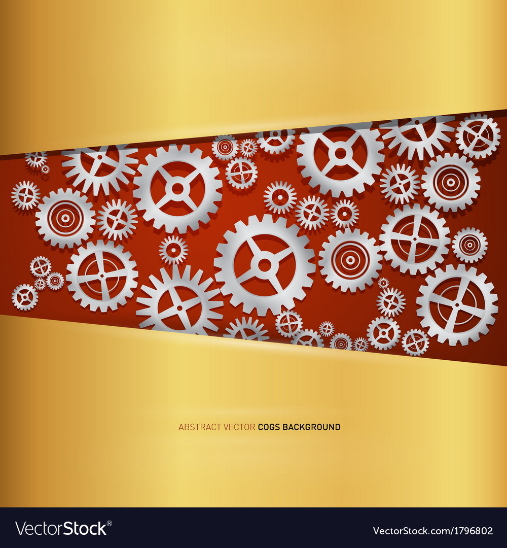 Abstract cogs - gears vector image