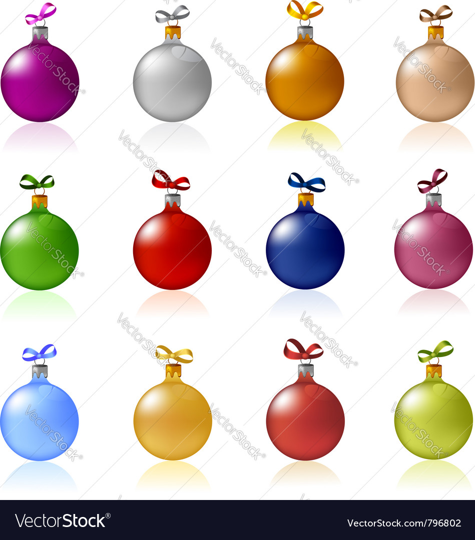 Christmas baubles set