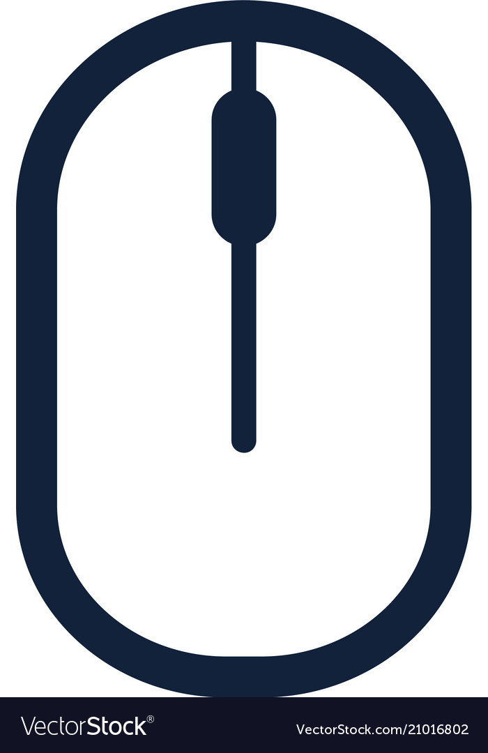 Computer mouse icon symbol flat style design