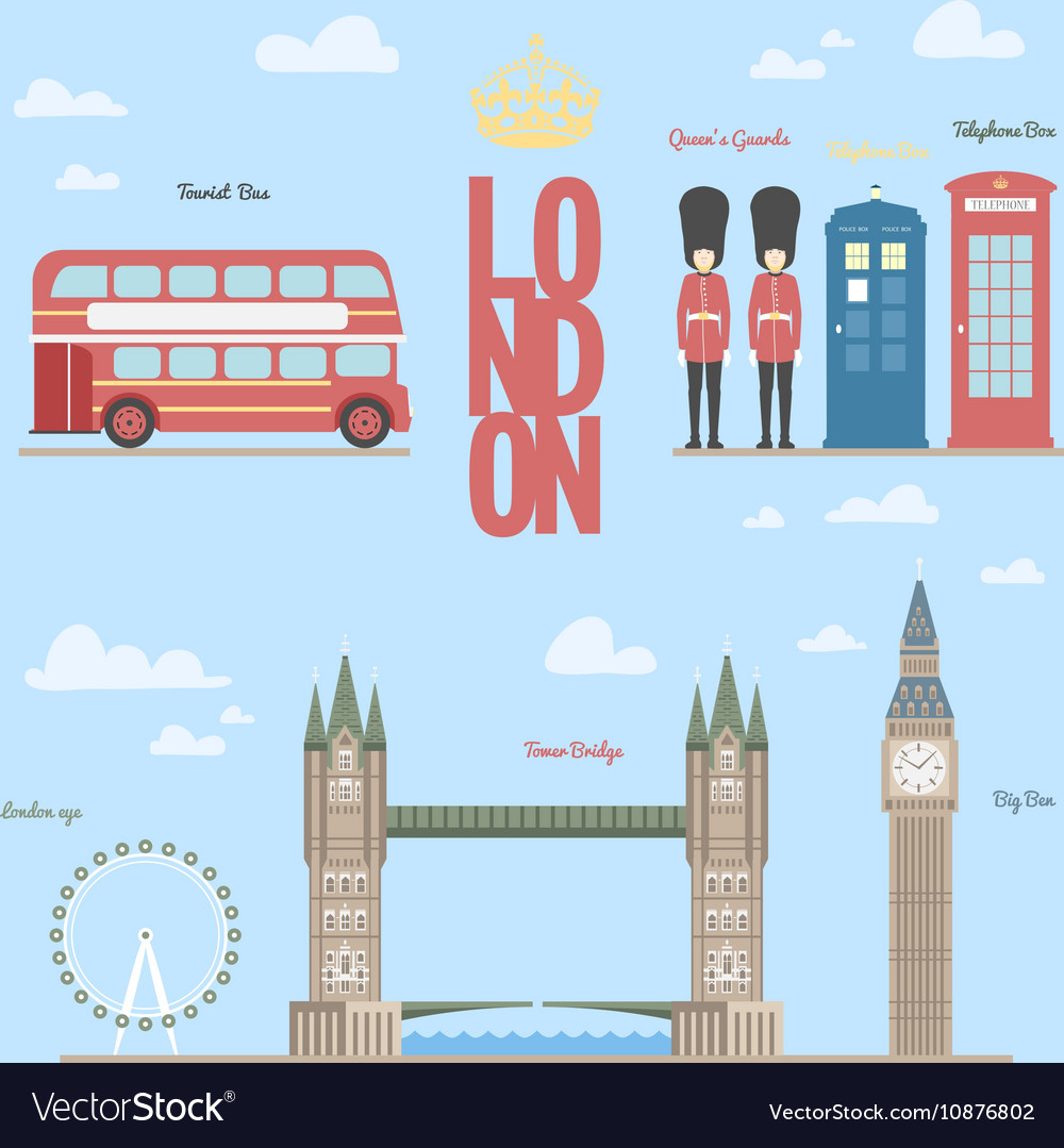 London travel info graphic of