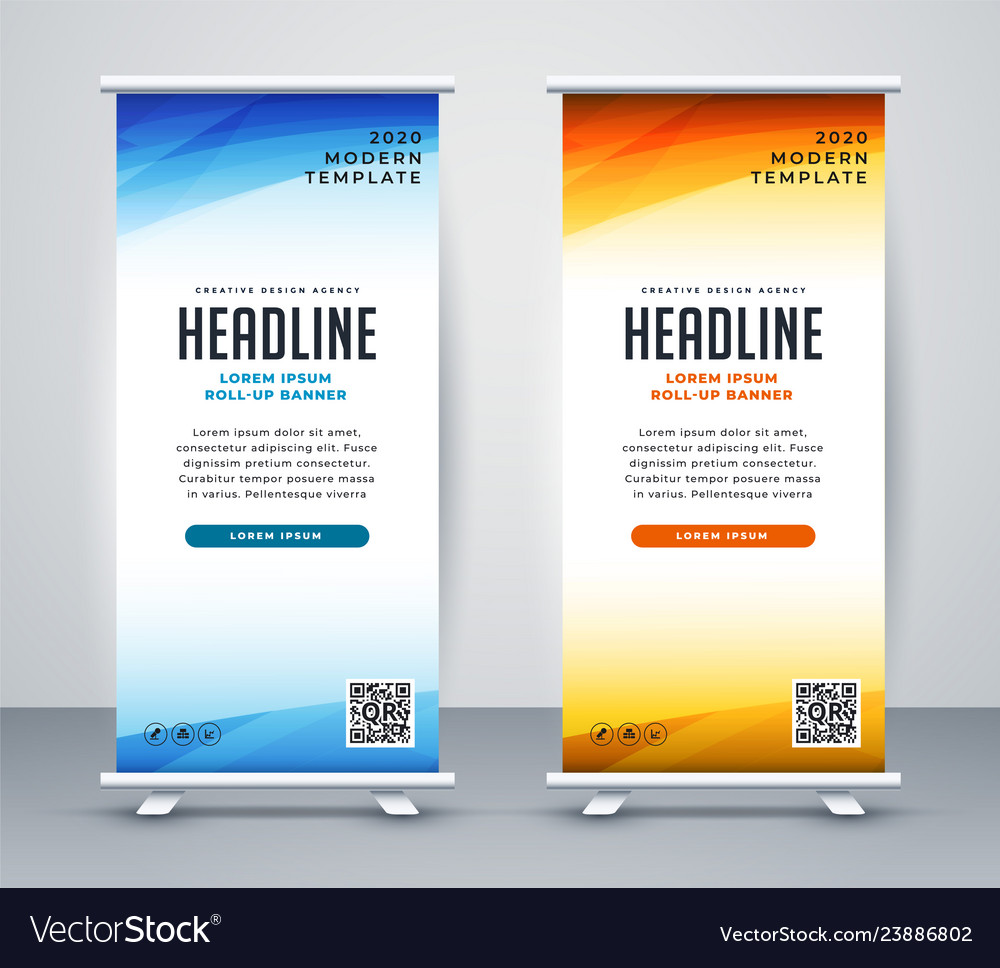 Stand Banner Template Design Vector Image